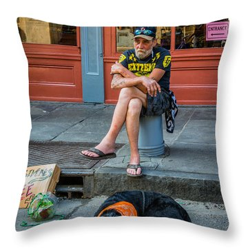 Gettin' By In New Orleans Throw Pillow by Steve Harrington