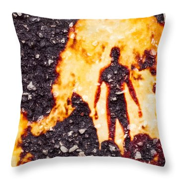 Ghost Man Throw Pillow