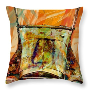 Old Car Throw Pillow featuring the photograph Ghost Of 1929 by Aaron Berg
