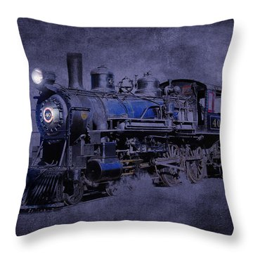 Throw Pillow featuring the photograph Ghost Train by Gunter Nezhoda