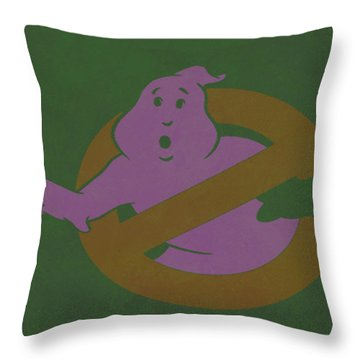 Throw Pillow featuring the digital art Ghostbusters Movie Poster by Brian Reaves