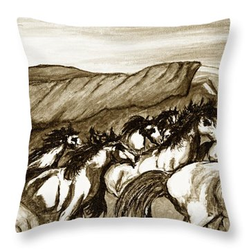 Gift Of The Pinto Throw Pillow