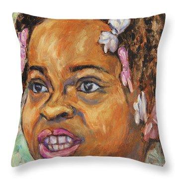 Girl With Dread Locks Throw Pillow