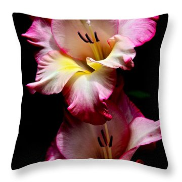 Gladiolus Beauty Throw Pillow