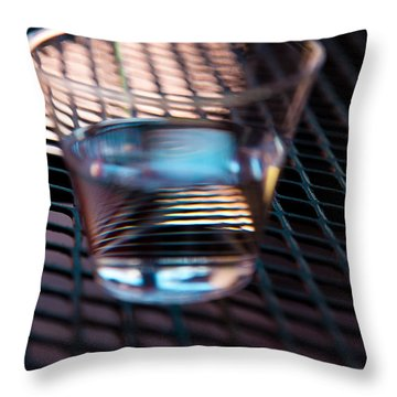 Glass Half Full Throw Pillow by David Patterson