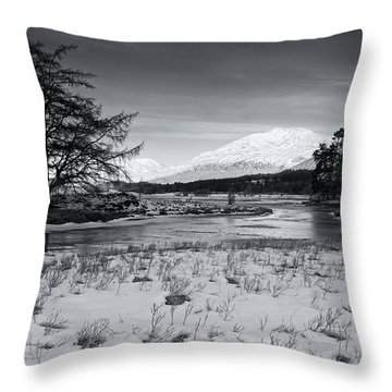 Throw Pillow featuring the photograph Glen Orchy by Stephen Taylor