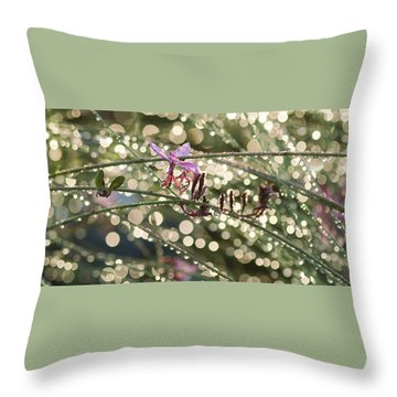 Glisten Throw Pillow