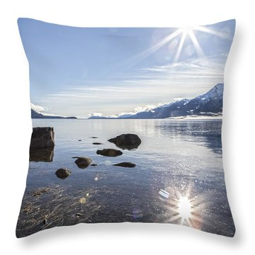 Glorious Sun Throw Pillow