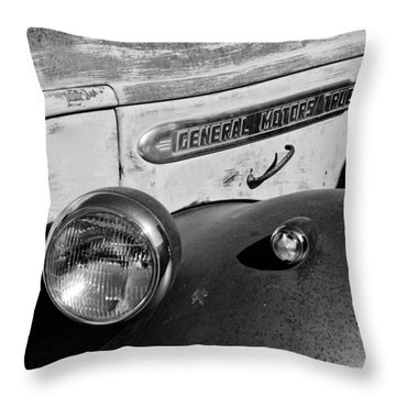 Gmc Truck Side Emblem Throw Pillow by Jill Reger