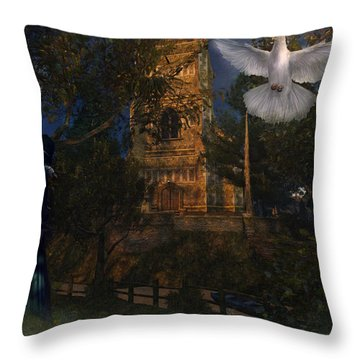 Goatswood Cathedral Throw Pillow by Kylie Sabra