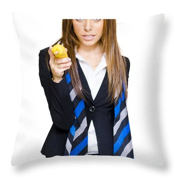 Going Bananas Over Business Throw Pillow by Jorgo Photography - Wall Art Gallery