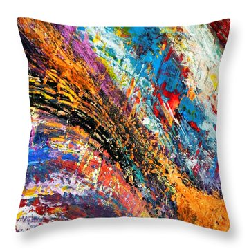 Throw Pillow featuring the mixed media Going With It by Everette McMahan jr