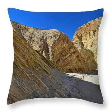 Throw Pillow featuring the photograph Golden Canyon - Death Valley by Dana Sohr