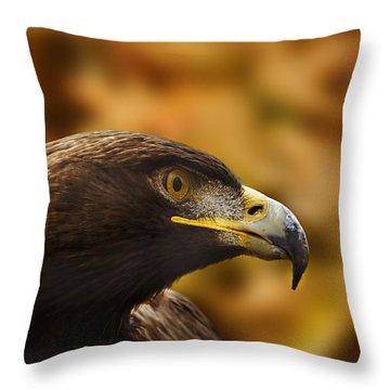 Golden Eagle  Throw Pillow