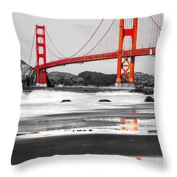 Golden Gate - San Francisco - California - Usa Throw Pillow by Luciano Mortula