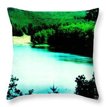 Gorge Waterway Victoria British Columbia Throw Pillow