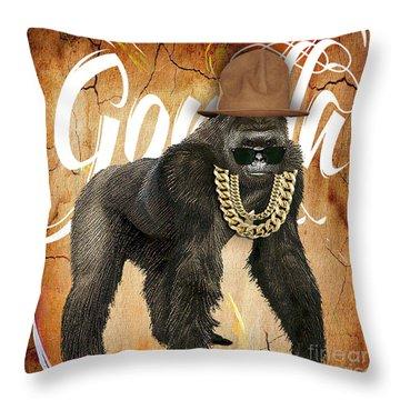 Gorilla Collection Throw Pillow