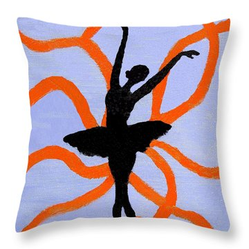 Throw Pillow featuring the painting Graceful Silhouette by Margaret Harmon