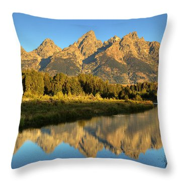 Throw Pillow featuring the photograph Grand Teton by Alan Vance Ley