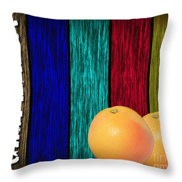 Grapefruit Throw Pillow by Marvin Blaine