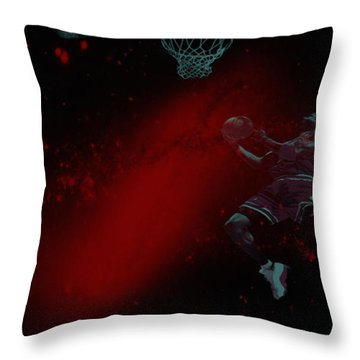Throw Pillow featuring the mixed media Gravity by Brian Reaves