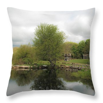 Grays Mill Pond Throw Pillow