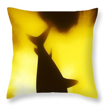 Throw Pillow featuring the digital art Great White  by Aaron Berg