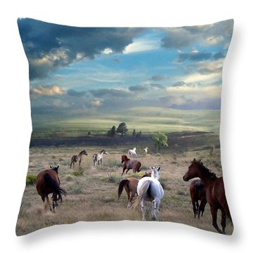 Greener Pastures Throw Pillow by Bill Stephens
