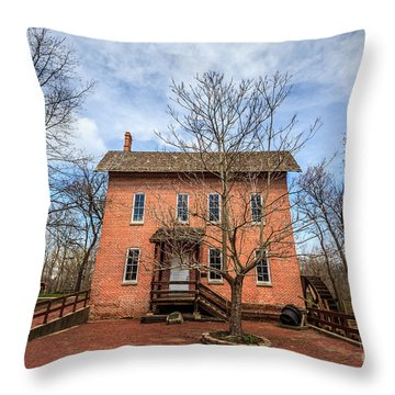 Grist Mill In Deep River County Park Throw Pillow by Paul Velgos