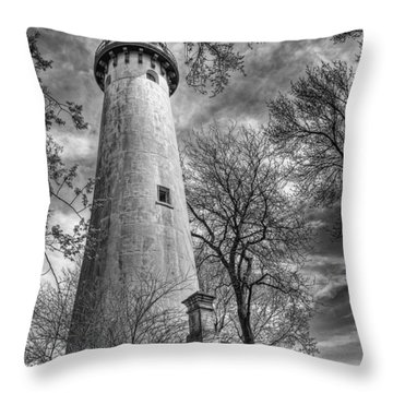 Grosse Point Lighthouse Throw Pillow