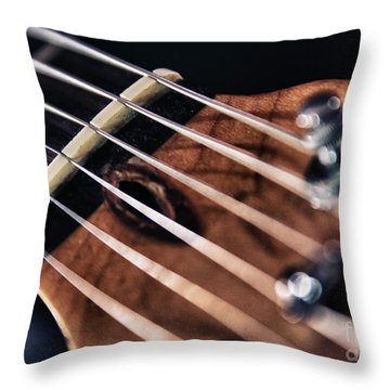 Guitar Strings Throw Pillow by Stelios Kleanthous