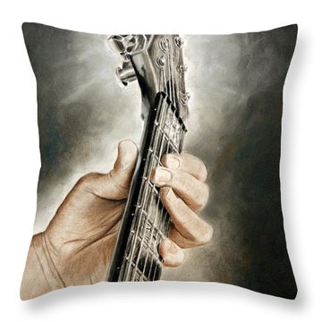 Guitarist's Point Of View Throw Pillow