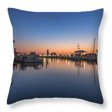 Gulfport Harbor Throw Pillow