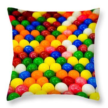 Gum Balls Throw Pillow
