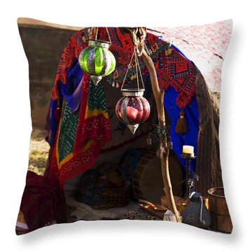 Gypsy Tent Throw Pillow