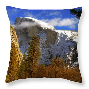 Half Dome  Throw Pillow