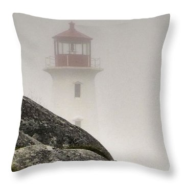 Halifax Fog Throw Pillow