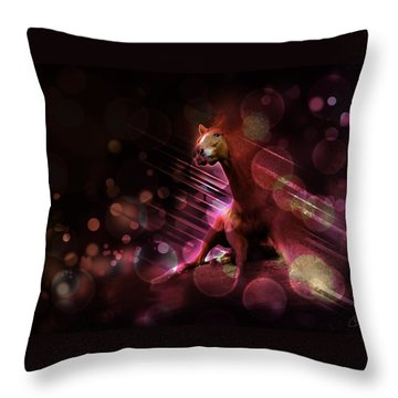 Hallucination Throw Pillow by Kate Black