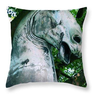 Hamburg Horse Throw Pillow