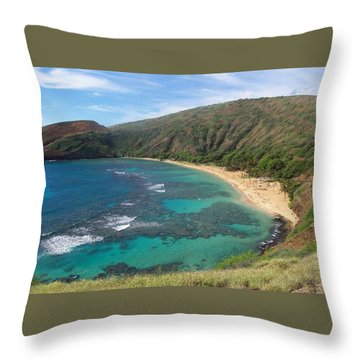 Hanauma Bay Oahu Hawaii Throw Pillow