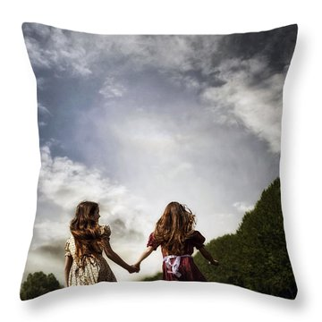Hand In Hand Through Life Throw Pillow
