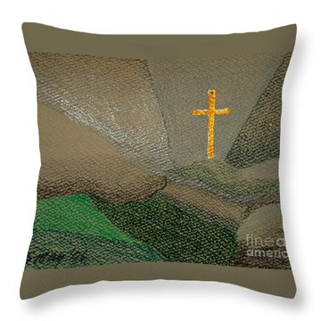 Depression And The Saviour Throw Pillow