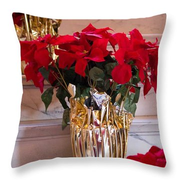 Happy Holidays Throw Pillow by Patricia Babbitt