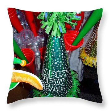 Happy New Year Throw Pillow by Caroline Stella