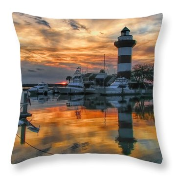 Harbour Town Sunset Throw Pillow