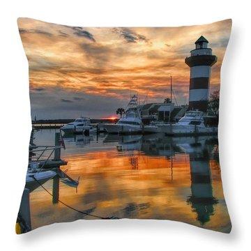 Harbour Town Sunset Throw Pillow