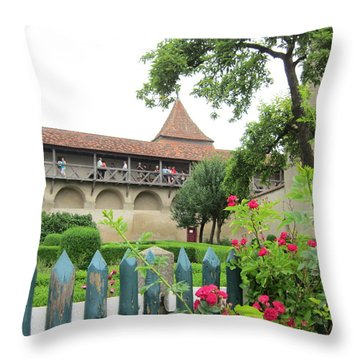 Harburg Castle Throw Pillow