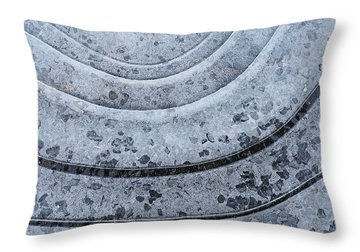 Hard Water Throw Pillow by Bill Morgenstern