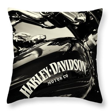 Harley Davidson Black And White Throw Pillows