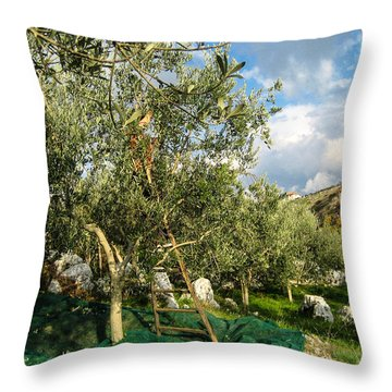 Harvest Day Throw Pillow by Dany Lison